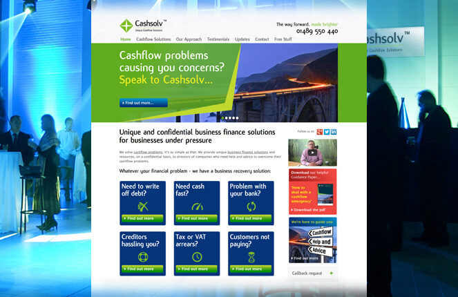 Cashsolv website design