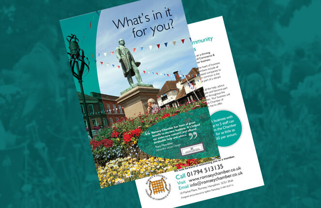Romsey Chamber literature design