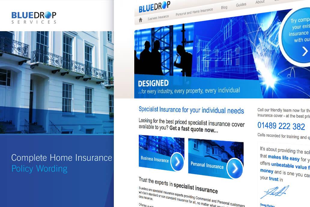 Bluedrop service web design