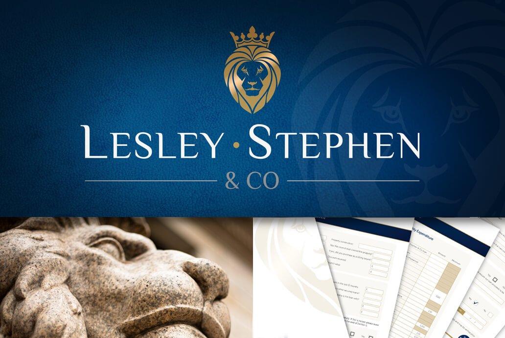 Lesley Stephen & Co corporate branding