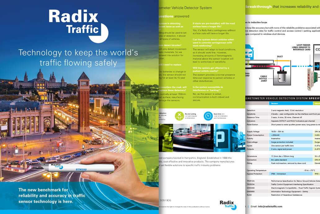 Radix Traffic design for print