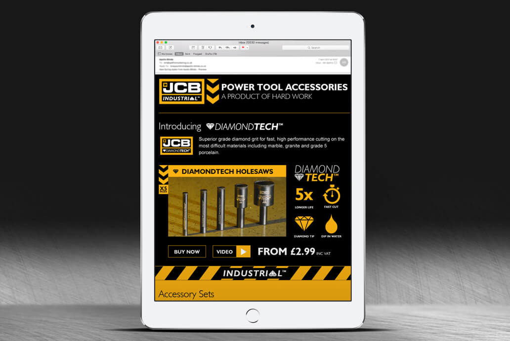 JCB email campaign