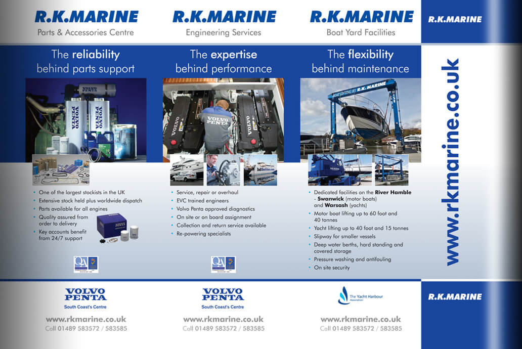 RK Marine Exhibition banner