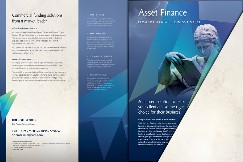 Five Arrows product leaflets