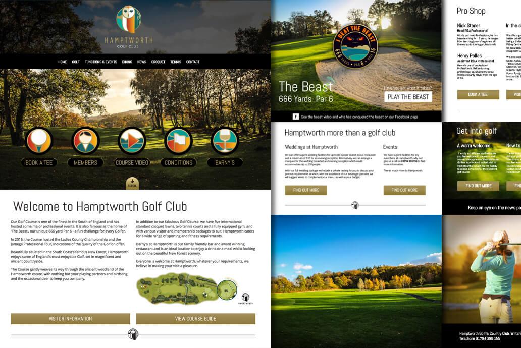 Hamptworth web design pages