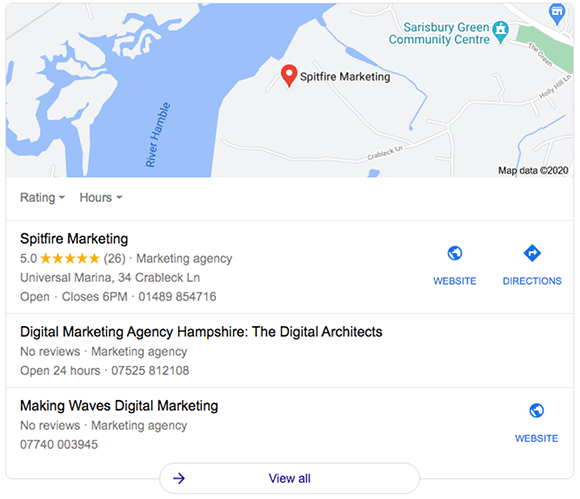 Local SEO map listing
