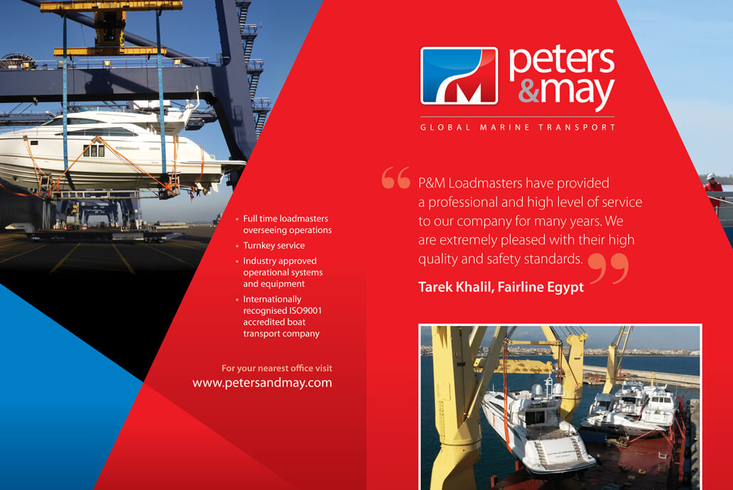Peters and May branding