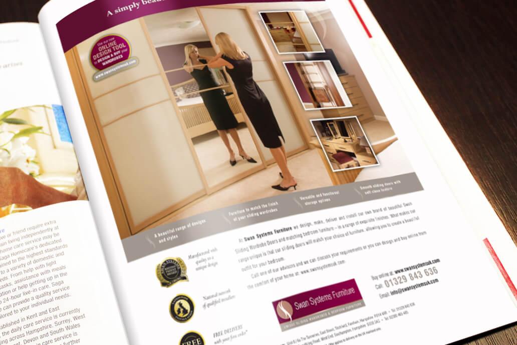 Swan Systems magazine advertising