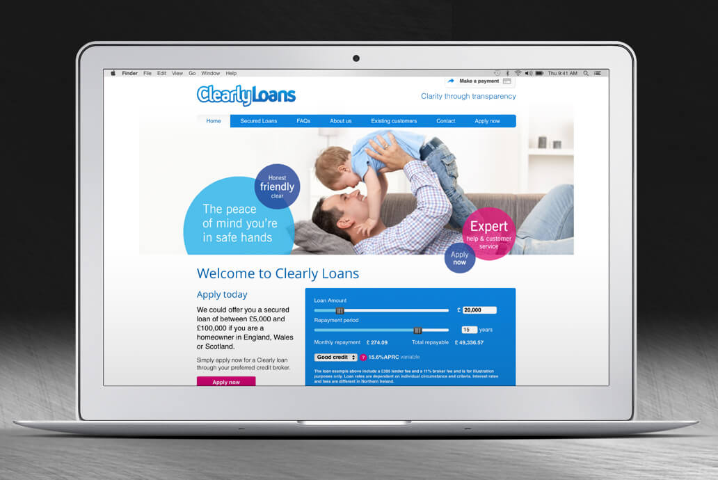 Clearly Loans web design